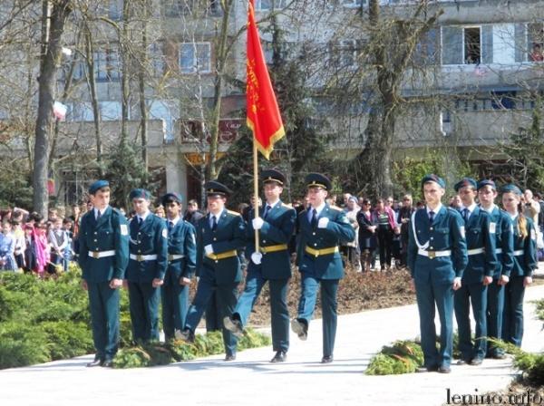 митинг, посвященный 71-й годовщине освобождения Ленинского района от немецко-фашистских захватчиков